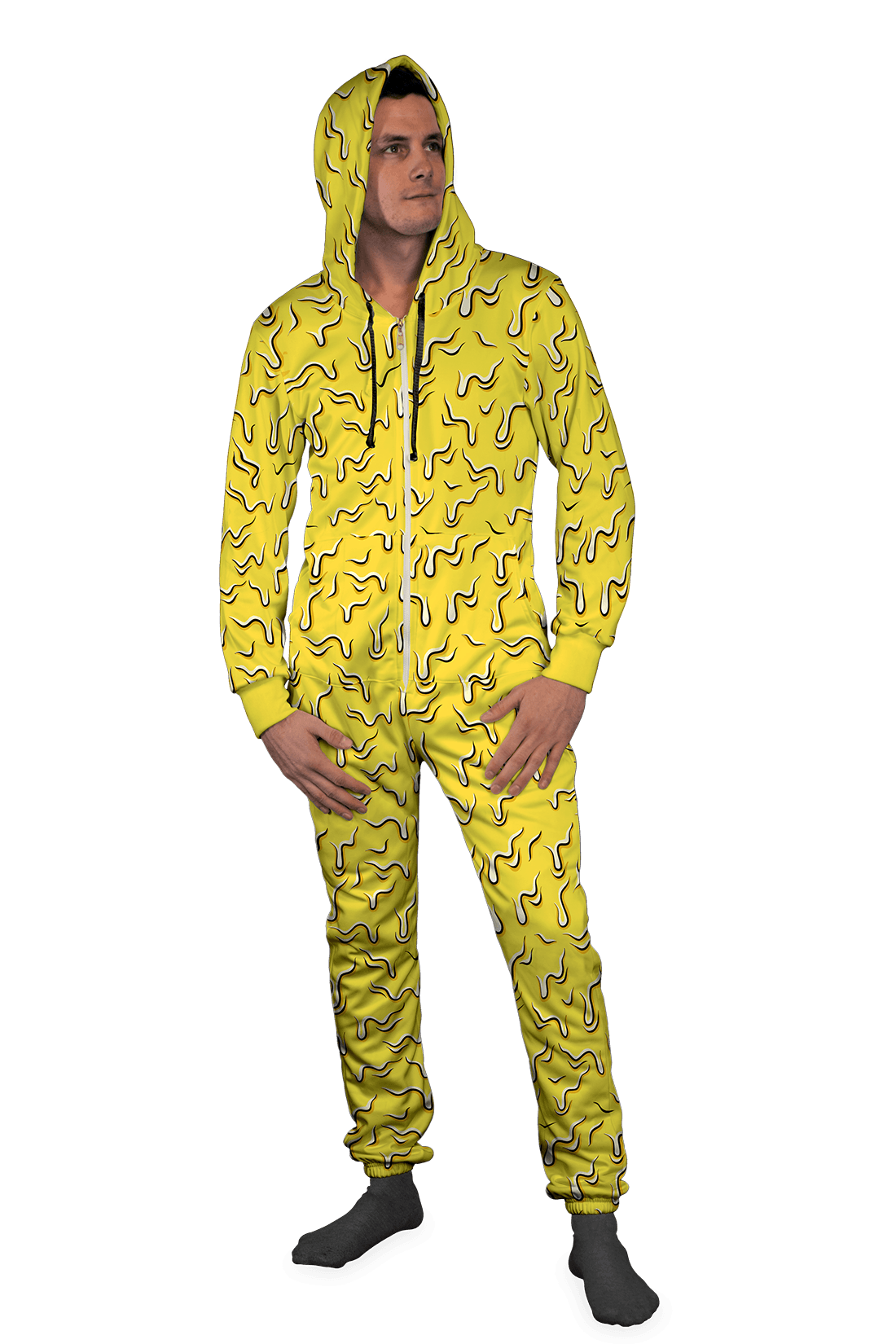 Neon Drippy (Yellow) Onesie Electro Threads