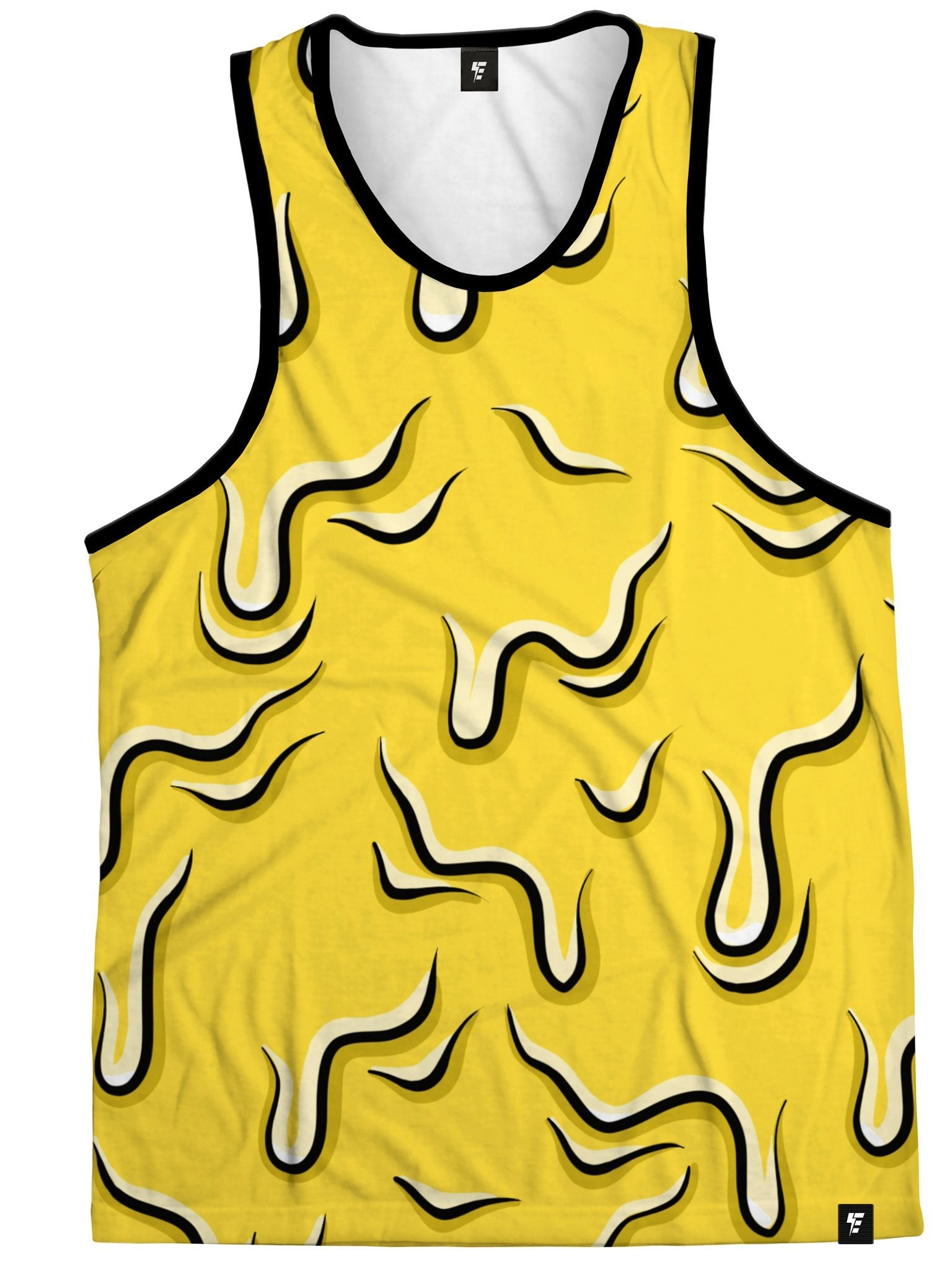 Neon Drippy (Yellow) Tank Tank Tops Electro Threads