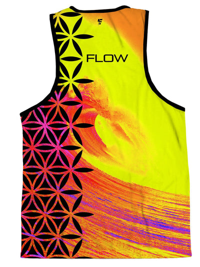Neon Flow Wave Tank Tank Tops Electro Threads