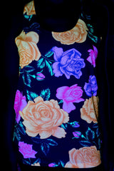 Neon Flowers Unisex Tank Top Tank Tops Electro Threads