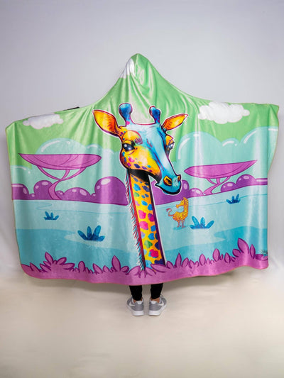 Neon Giraffe Hooded Blanket Hooded Blanket Electro Threads