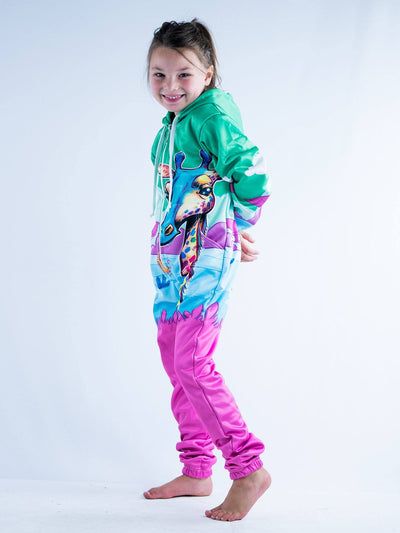 Neon Giraffe Youth Onesie Youth Onesie T6