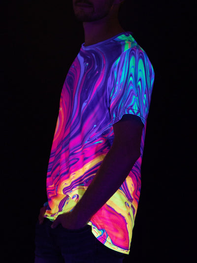 Neon Nuclear Unisex Crew T-Shirts Electro Threads