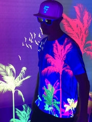 Neon Palms Unisex Crew T-Shirts Electro Threads