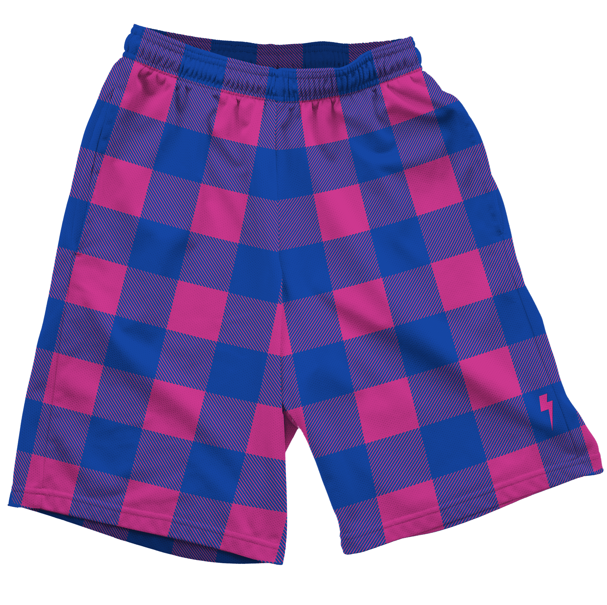 Neon Pink & Blue Shorts Mens Shorts T6