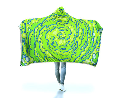Neon Portal Hooded Blanket Hooded Blanket Electro Threads