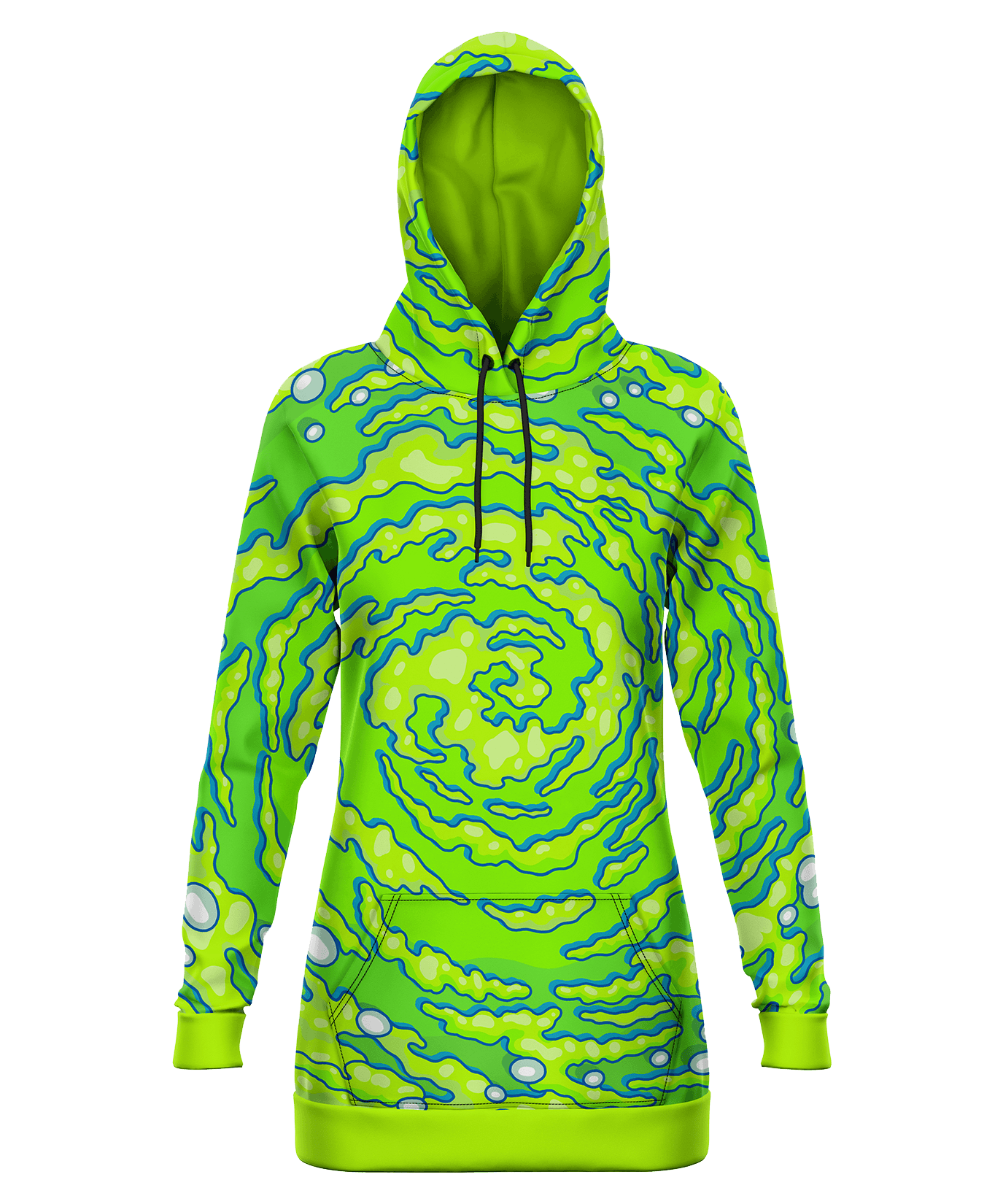 Neon Portal Hooded Dress Hoodie Dress Electro Threads