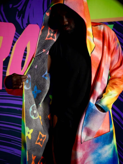 Neon Rainbow TieDye Affinity Cloak Affinity Cloak Electro Threads
