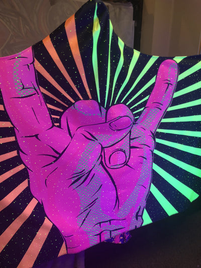Neon Rock On Hooded Blanket Hooded Blanket Electro Threads