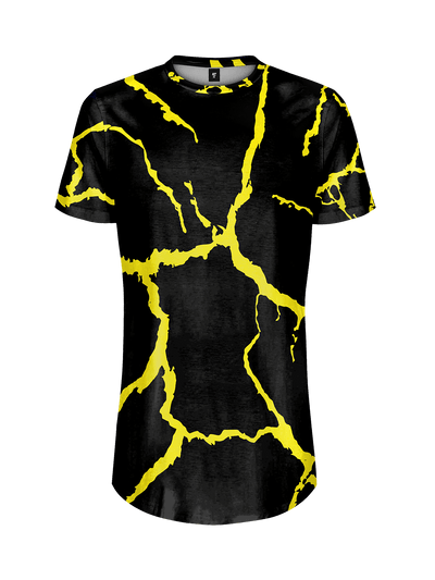 NEON SHOCK YELLOW TALL TEE Mens Tall Tee Electro Threads