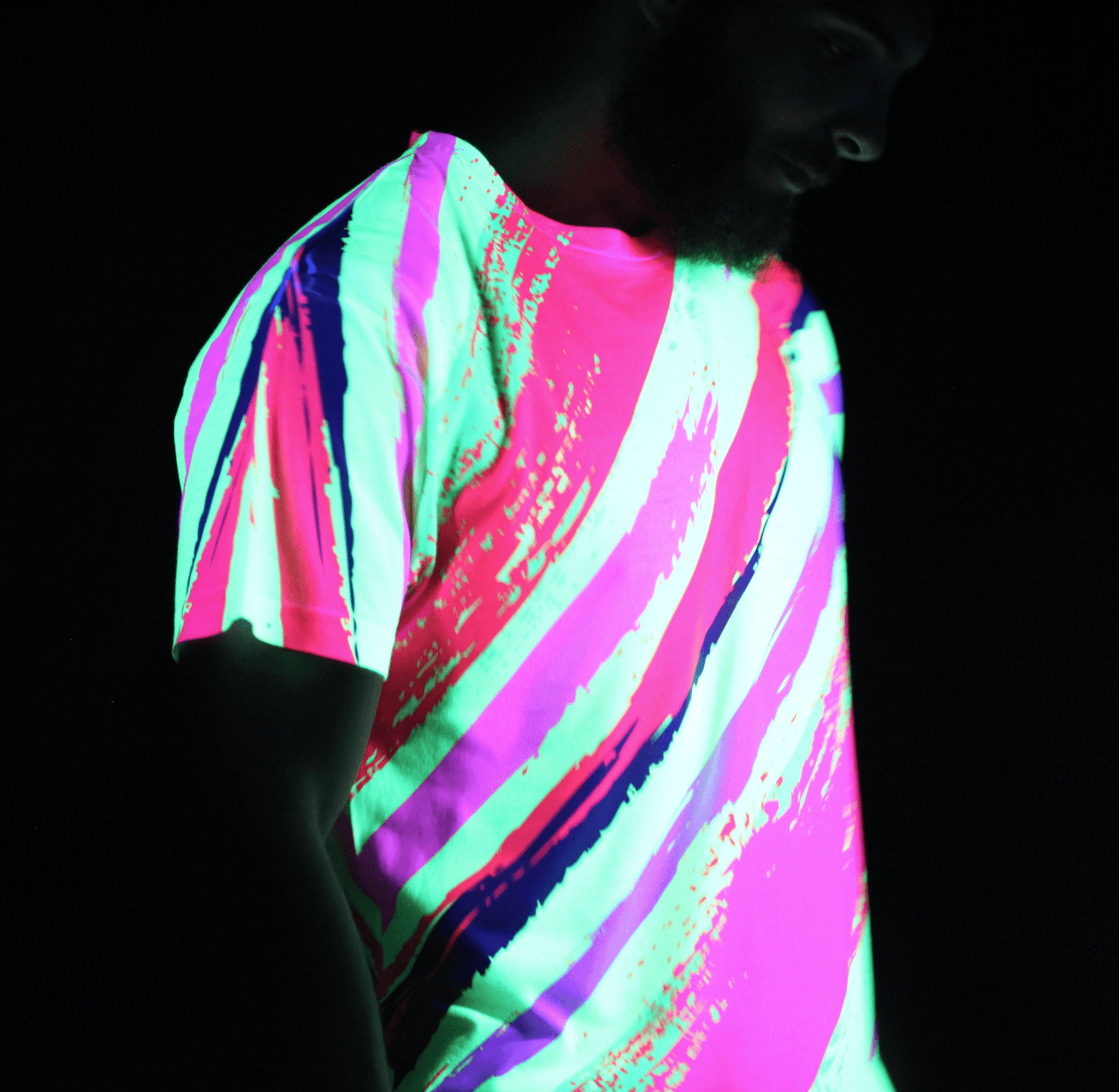 Neon Slasher Unisex Crew T-Shirts Electro Threads