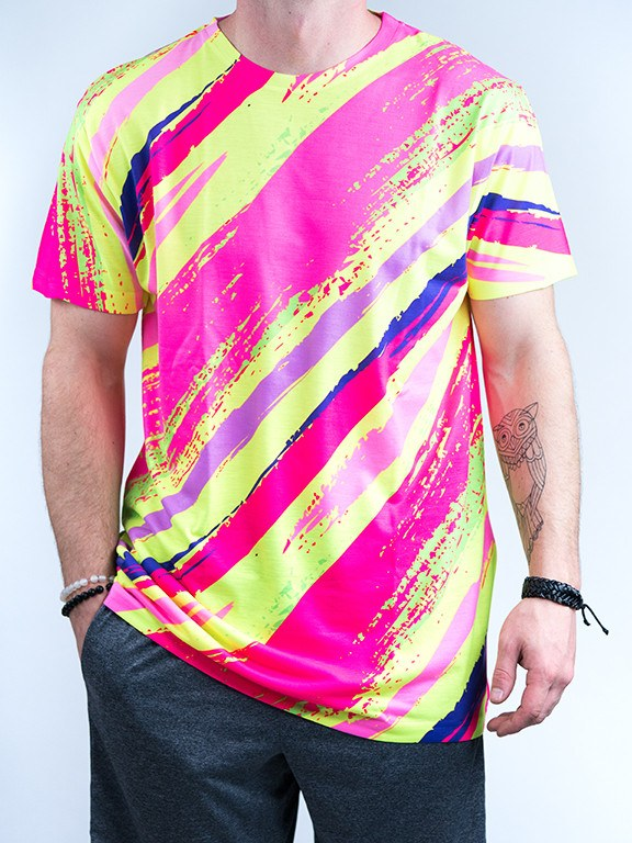 Neon Slasher Unisex Crew T-Shirts Electro Threads X-Small
