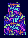 Neon Squiggles Unisex Tank Top Tank Tops Electro Threads