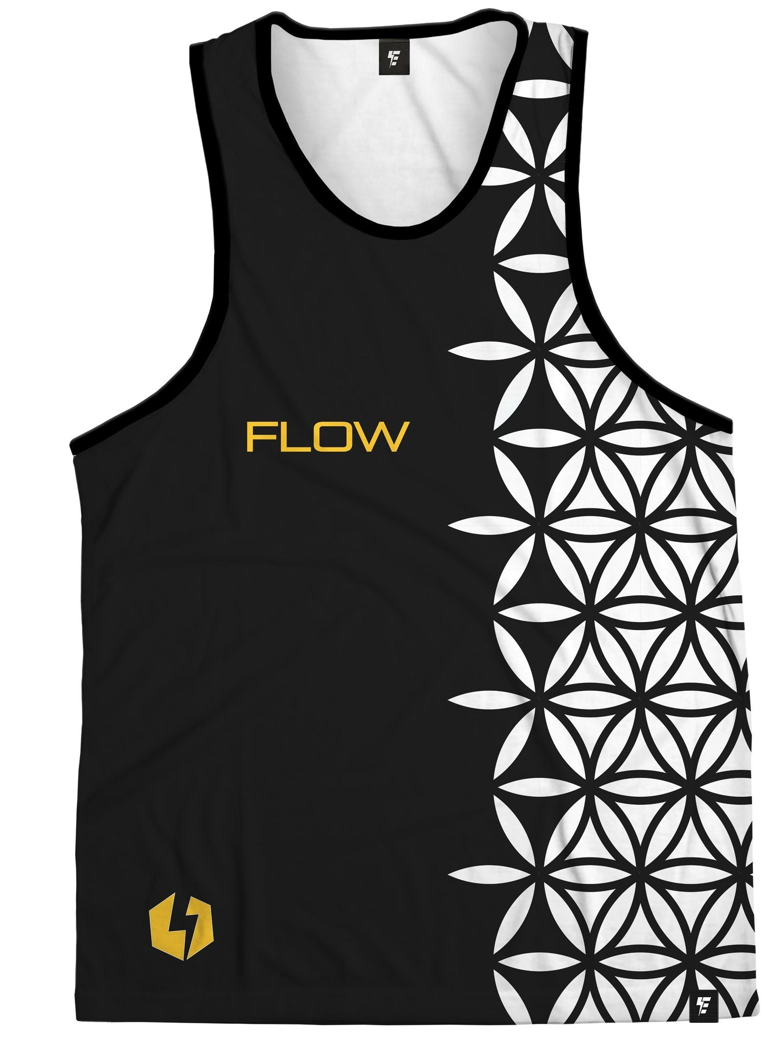 Neon Sub-Conscious Flow (Orange) Tank Top Tank Tops Electro Threads