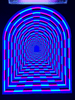 Neon Tunnel Vision Tapestry Tapestry Electro Threads