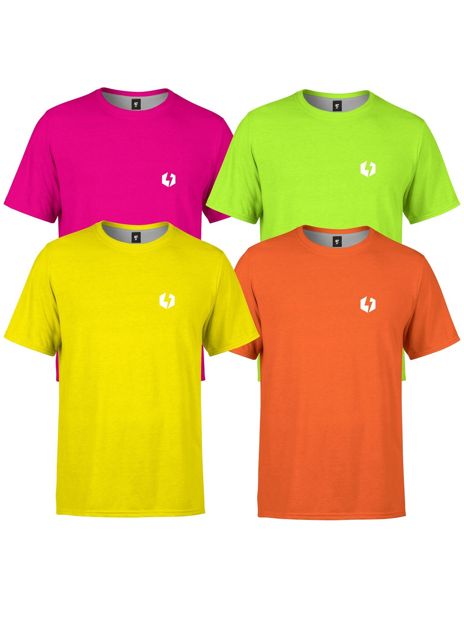 Neon Unisex Crews T-Shirts Electro Threads