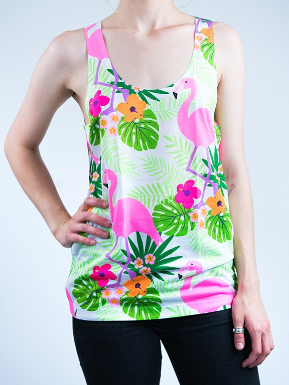 Neon Vacation Unisex Tank Top Tank Tops Electro Threads