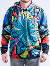 Optical Stained Glass Unisex Hoodie Pullover Hoodies T6