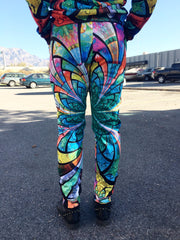 Optical Stained Glass Unisex Joggers Jogger Pant T6