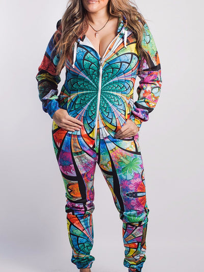 Optical Stained Glasss Adult Onesie Onesie T6