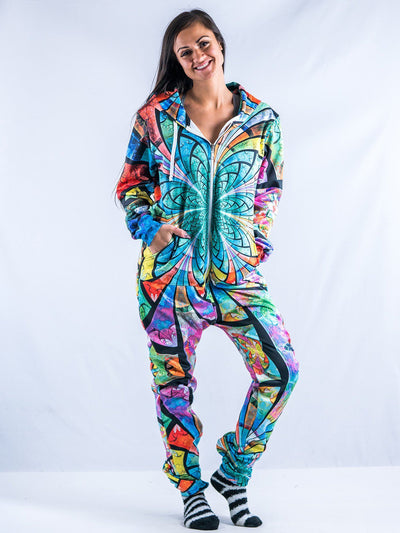 Optical Stained Glasss Adult Onesie Onesie T6 S