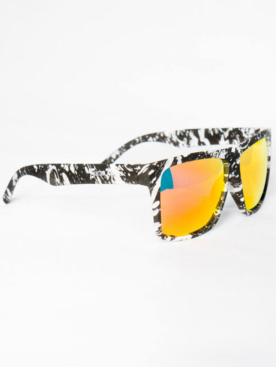 Paint Splatter Sunglasses Glasses Electro Threads Orange