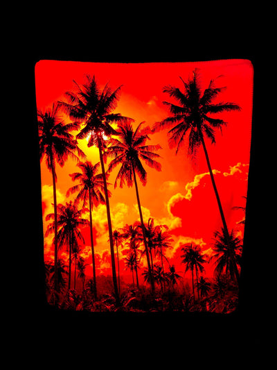 PALM TREE SUNSET FOOTSIE BLANKET Footed Blanket Electro Threads