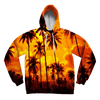Palm Tree Sunset Unisex Hoodie Pullover Hoodies T6