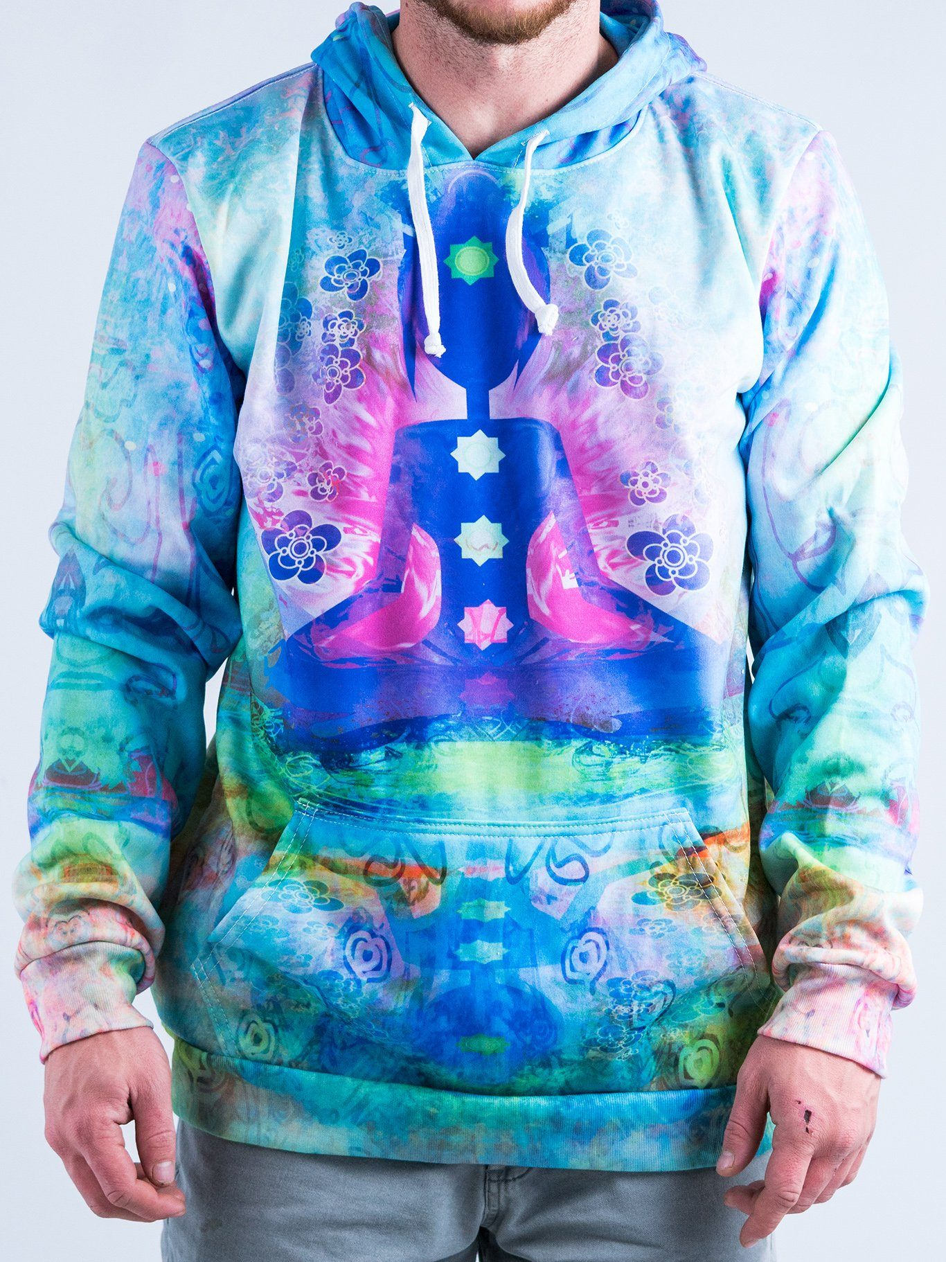 Pastel Chakra Unisex Hoodie Pullover Hoodies T6 X-Small Blue Pullover Hoodie