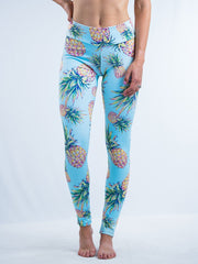 Pastel Pineapple Leggings Leggings T6