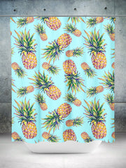Pastel Pineapple Shower Curtain Shower Curtains Electro Threads