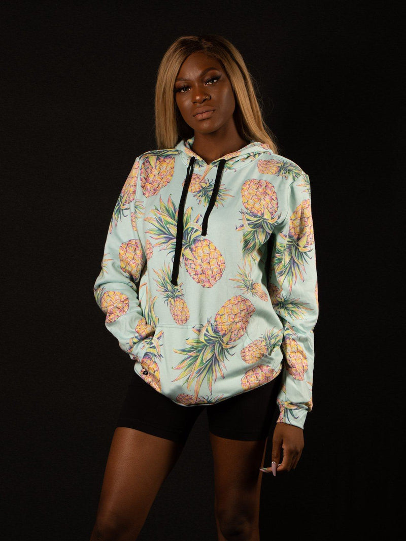 Pastel Pineapple Unisex Hoodie Pullover Hoodies Electro Threads
