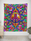 Peace Love Paisley Tapestry Tapestry Electro Threads