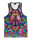 Peace Love Paisley Unisex Tank Top Tank Tops T6
