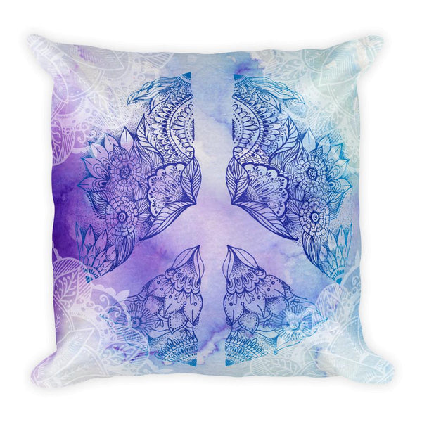 Peace Mandala Throw Pillow Electro Threads Default Title