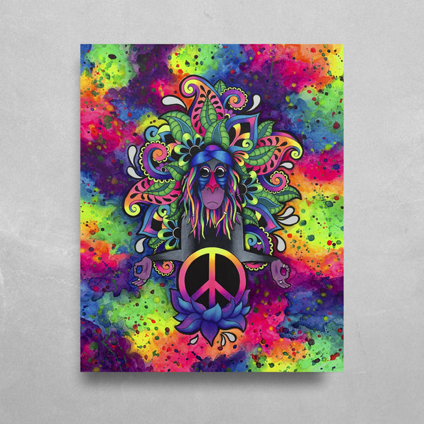 Peace Rafiki HD Metal Panel Print Ready to Hang HD Metal Print Electro Threads