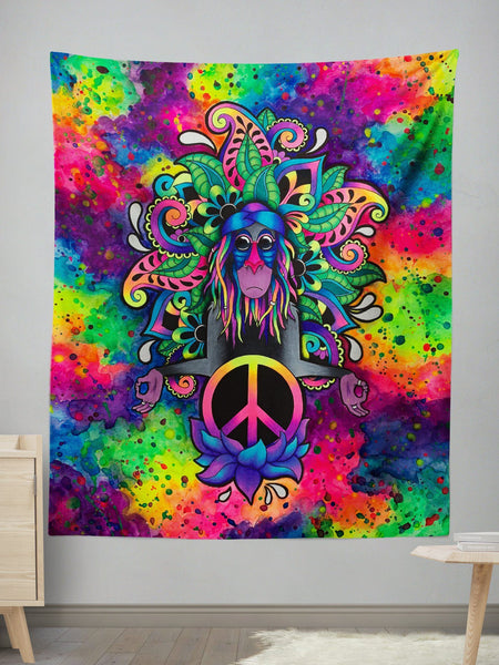 Peace Rafiki Wall Tapestry Tapestry Electro Threads