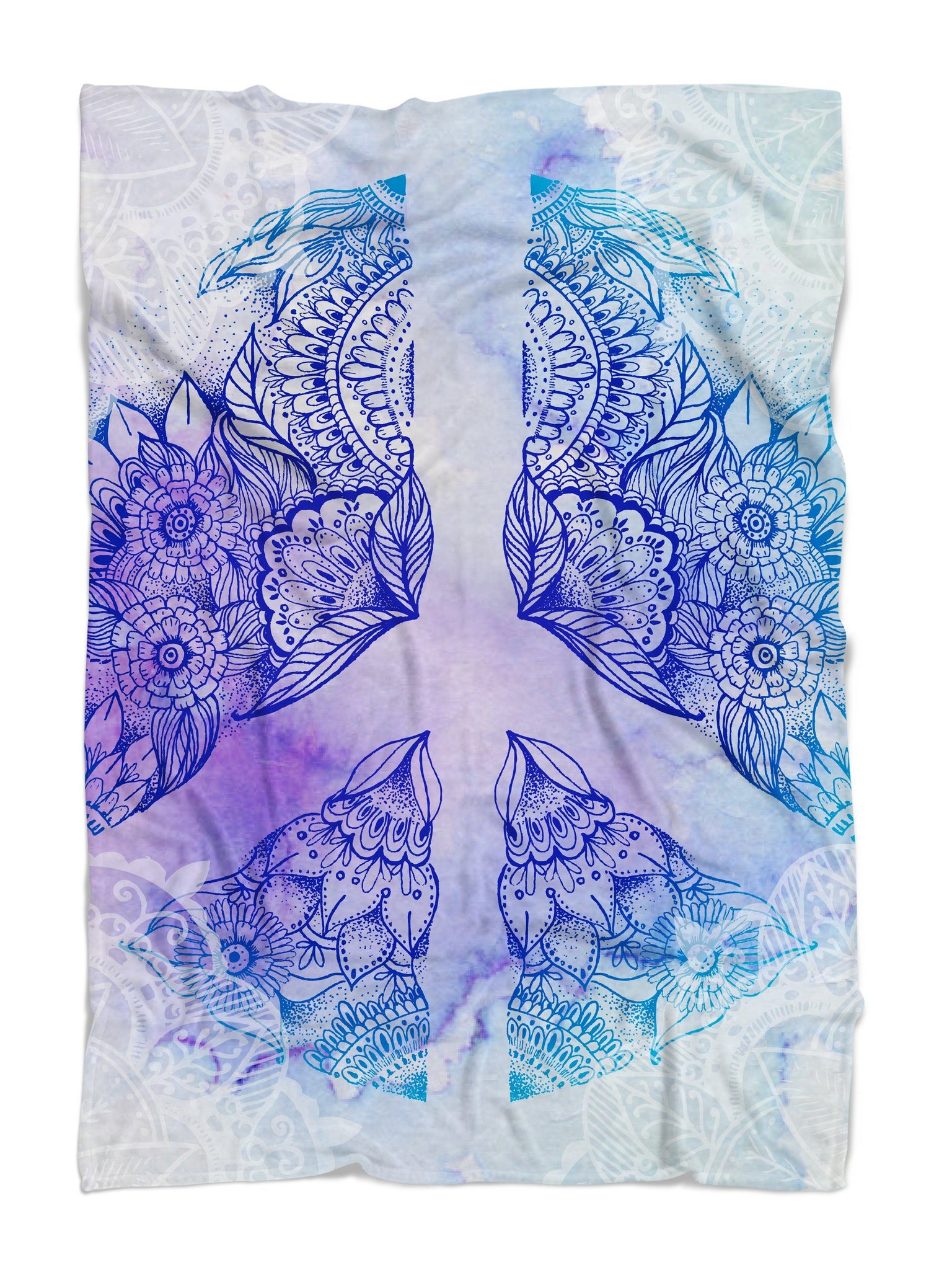 Peace Sign Mandala Blanket Blanket Electro Threads