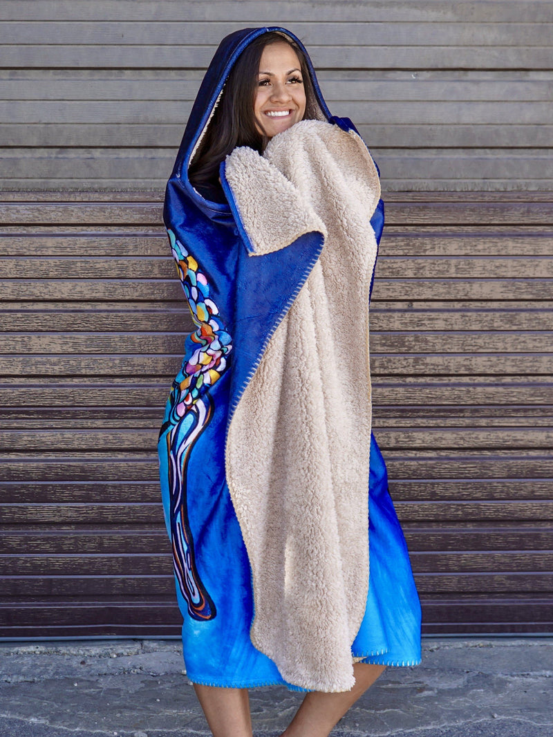Peace Within Hooded Blanket Hooded Blanket Electro Threads