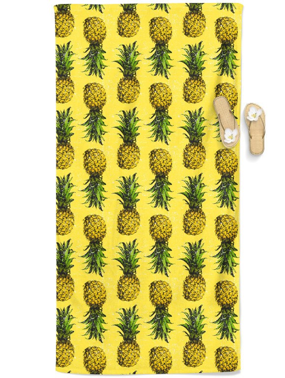 Pineapple Beach Throw Towel Electro Threads