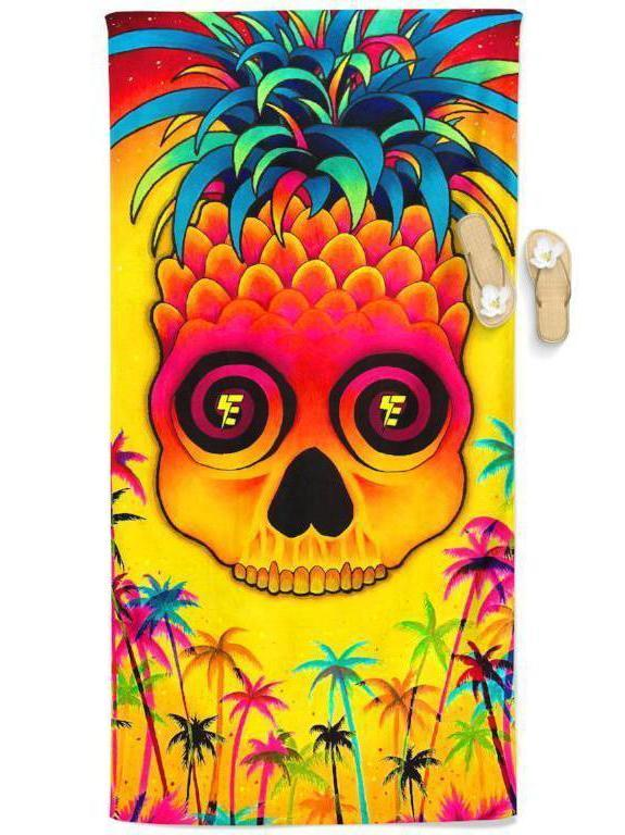 Pineapple Daze Beach Throw Towel Electro Threads