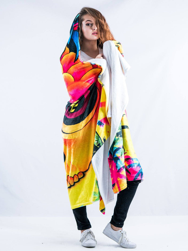 Pineapple Daze Hooded Blanket Hooded Blanket Electro Threads