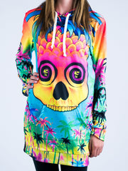 Pineapple Daze Hooded Dress Hoodie Dress T6 XS Blue