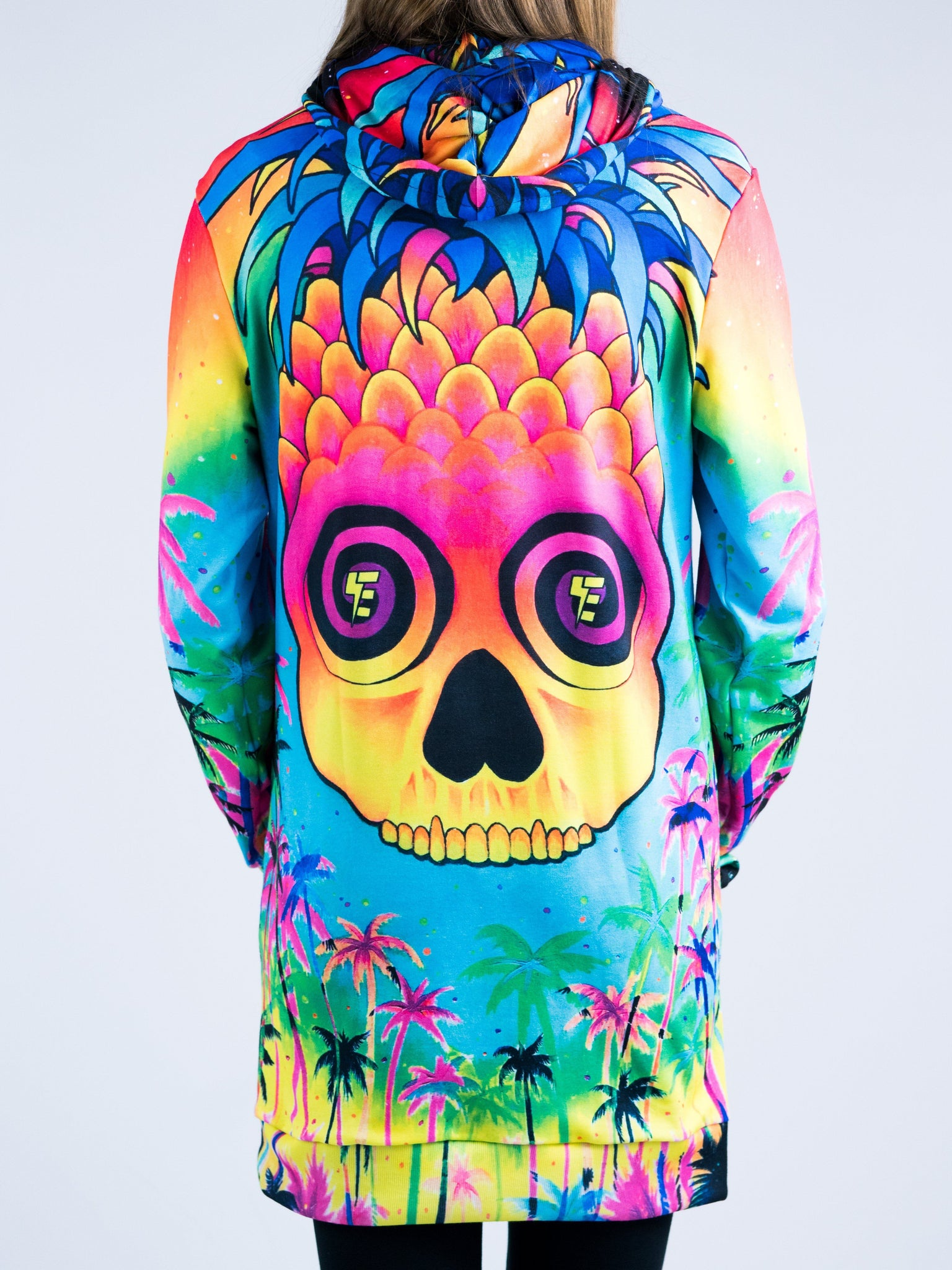 Pineapple Daze Hooded Dress Hoodie Dress T6