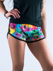 Pineapple Daze Women's Retro Shorts Women's Shorts T6 XS Blue