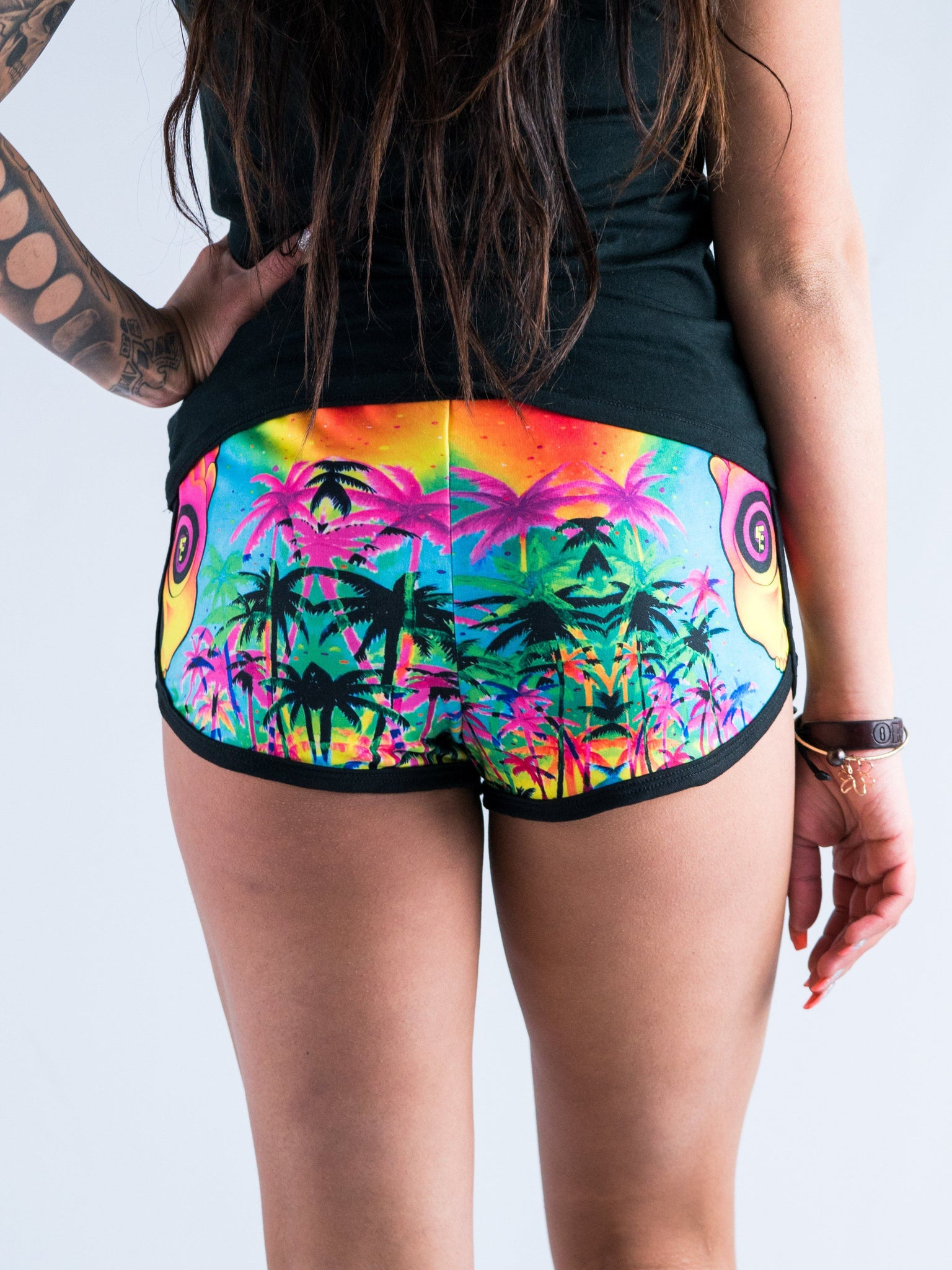 Pineapple Daze Women's Retro Shorts Women's Shorts T6