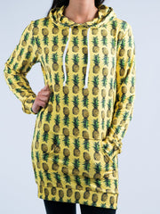 Pineapple Hooded Dress Hoodie Dress T6
