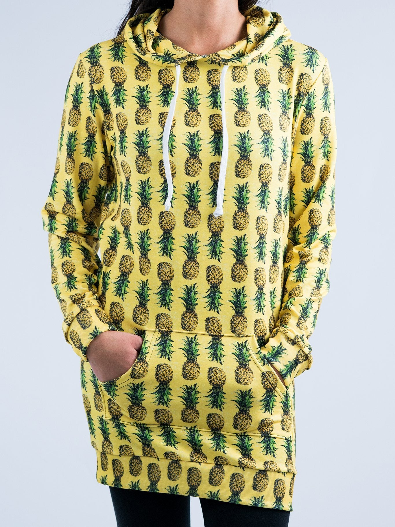 Pineapple Hooded Dress Hoodie Dress T6 XS Yellow