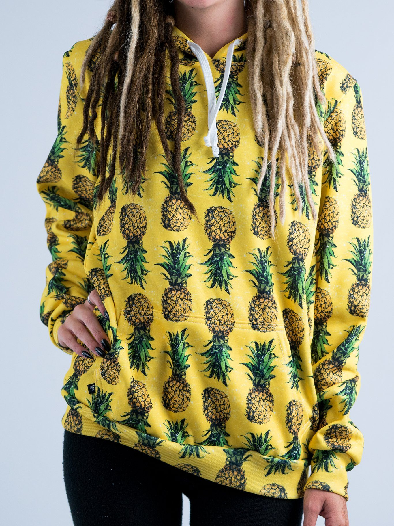 Pineapple Unisex Hoodie Pullover Hoodies T6 X-Small Yellow Pullover Hoodie