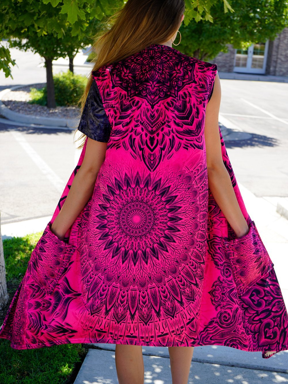 Pink Mandala Burn Summer Dream Cloak Dream Coat Electro Threads
